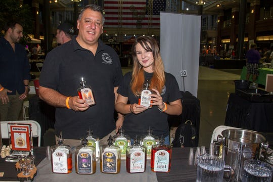 Jersey Spirit - John and Krystle Granata. Jersey City Craft Distillery Fest at the Harborside Atrium featured more than 100 styles of spirits. Guests had the chance to taste craft-distilled spirits from moonshine, rum, cognac, whiskey, vodka, gin, tequila and more. 09/08/2018