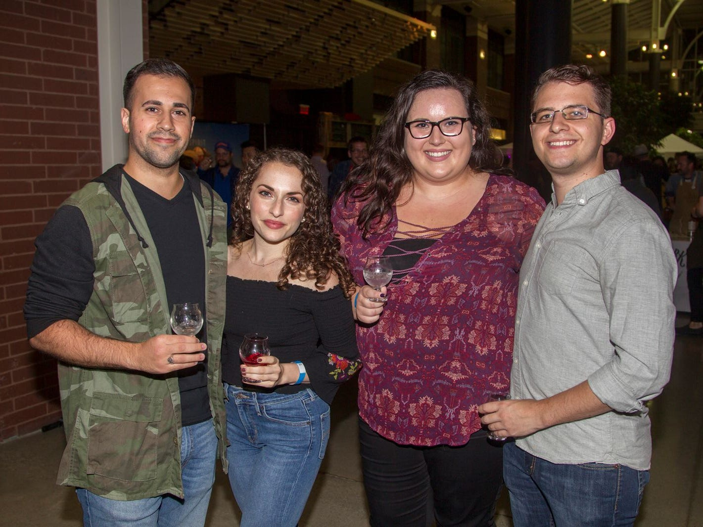 Michael, Stella, Camella, Larry. Jersey City Craft Distillery Fest at the Harborside Atrium featured more than 100 styles of spirits. Guests had the chance to taste craft-distilled spirits from moonshine, rum, cognac, whiskey, vodka, gin, tequila and more. 09/08/2018