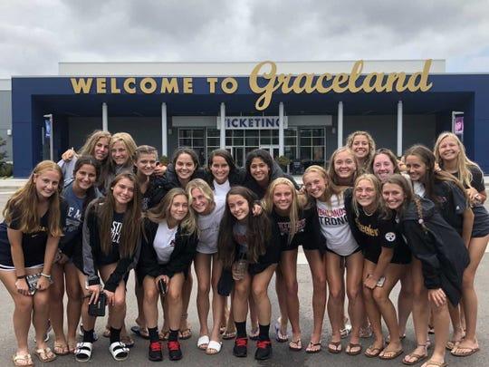 Members of the Northern Highlands girls soccer team visit Graceland.