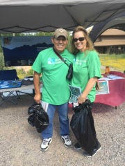 National Public Lands Day volunteers clean up litter in the Dripping Springs Natural Area in 2016