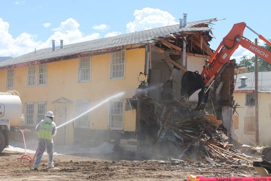 The Sahara Apartment Complex, shown here in this file photo, is one of the structures whose demolition was put into motion by Alamogordo Code Enforcement. The complex's five structures were torn down in September.