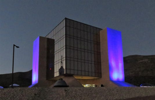 Museum With Blue Lights