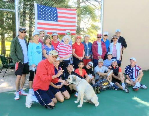 Group at Alto tennis