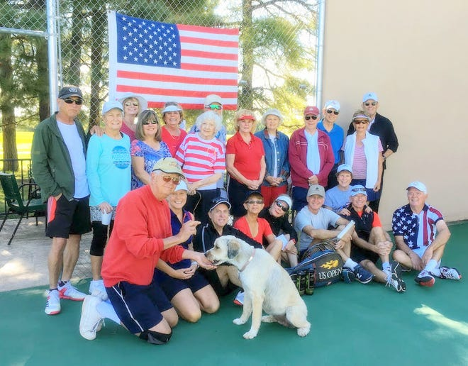 Members of Alto Lakes Tennis Association captured the spirit of the U.S. Open Tennis championships at their third Grand Slam event of the summer.