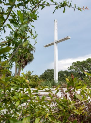 The cross in Pensacola's Bayview Park on Monday, September 10, 2018.