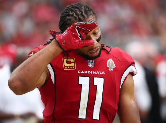 Larry Fitzgerald had seven catches for 76 yards in the Cardinals' opener against the Redskins.