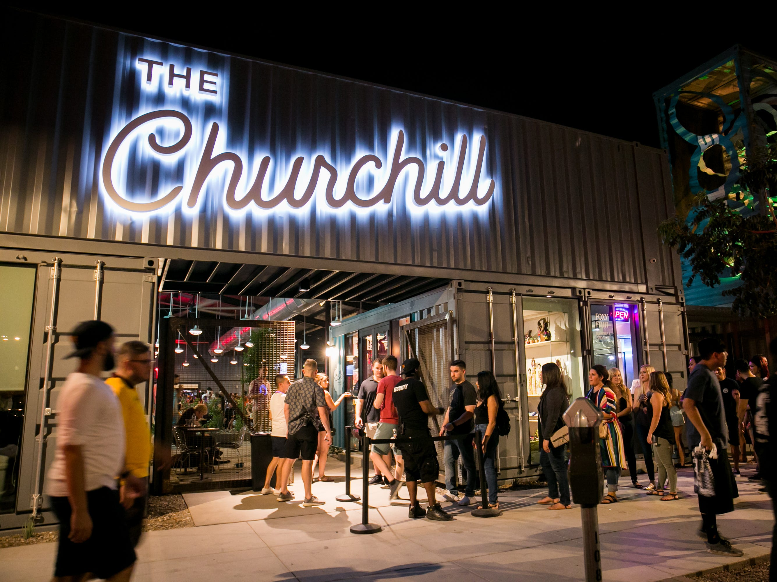 The Churchill was popular during the First Friday artwalk on Friday, September 7, 2018.
