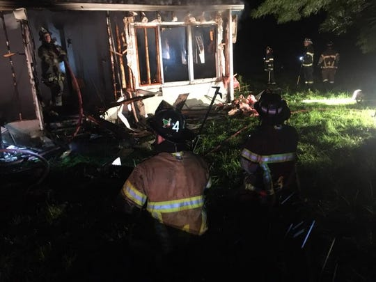Fire destroyed a house Sunday evening at 9622 Sweetwater Road, Path Valley.