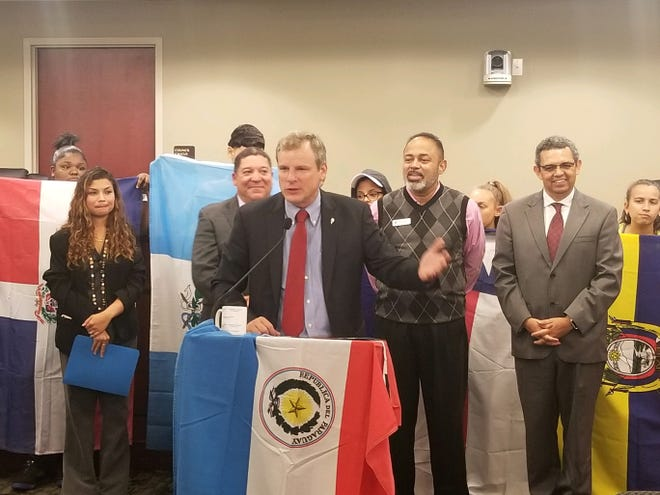 York City Mayor Michael Helfrich proclaimed September 15 through October 15 as Hispanic Heritage Month during a Monday, Sept. 10, press conference at City Hall.