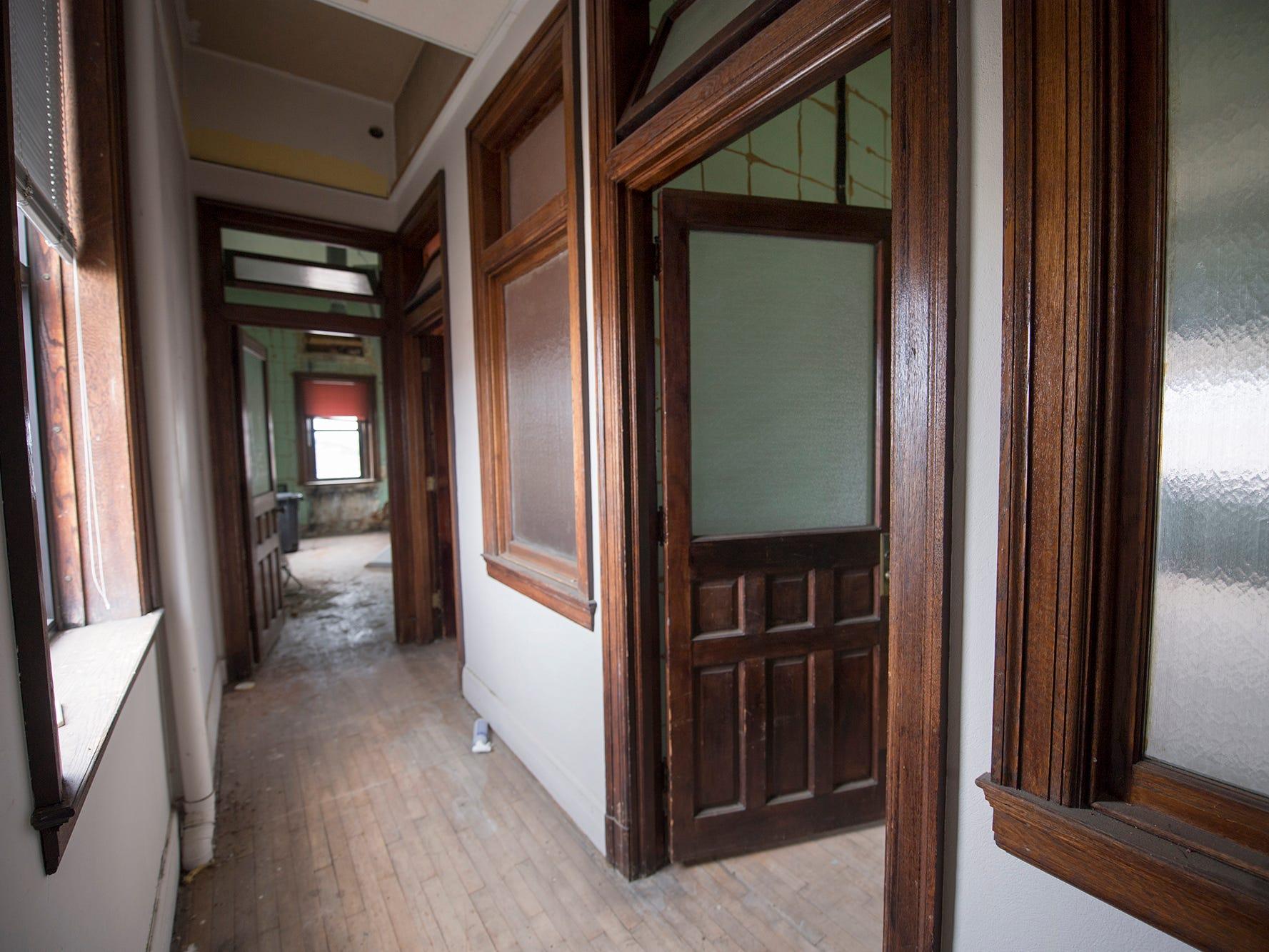 A hallway in an unused upper floor of the Rupp-Schmidt Building hasn't had a purpose in years.
