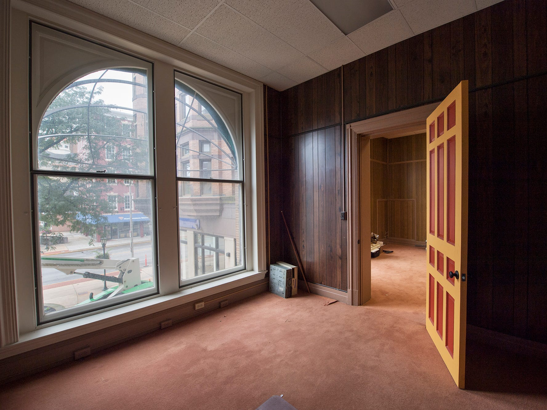 The second floor of the Rupp Building, vacant for about 25 years, overlooks Continental Square.