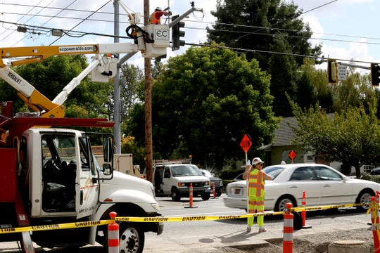 Construction on 12th St. SE near Fairview Ave. SE in Salem on Monday, Sep. 10, 2018.