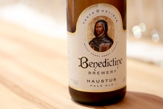 A bottle of the Haustus Pale Ale at the Benedictine Brewery in Mt. Angel on Wednesday, Sep. 5, 2018. The brewery, operated by the monks of Mount Angel Abbey, opens September 22.