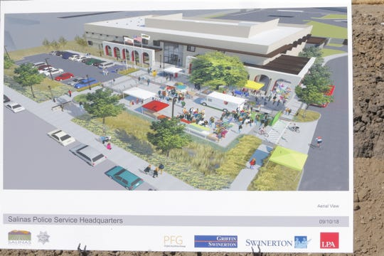 An artist's rendering of the Salinas Police Department's new headquarters at its Monday groundbreaking.