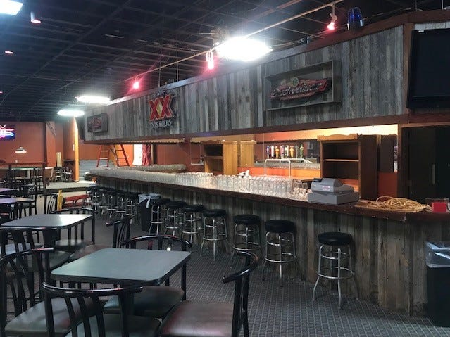 The Thomas brothers lifted the top of their bar so that bartenders can be seen better. The Concho Palace will open Friday, Sept. 14 at 2581 Sunset Drive.
