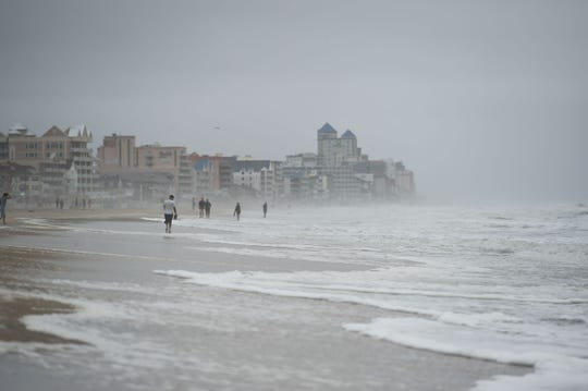 Ocean City, Md. is experiencing rough seas and wind on Monday, Sept. 10, 2018.
