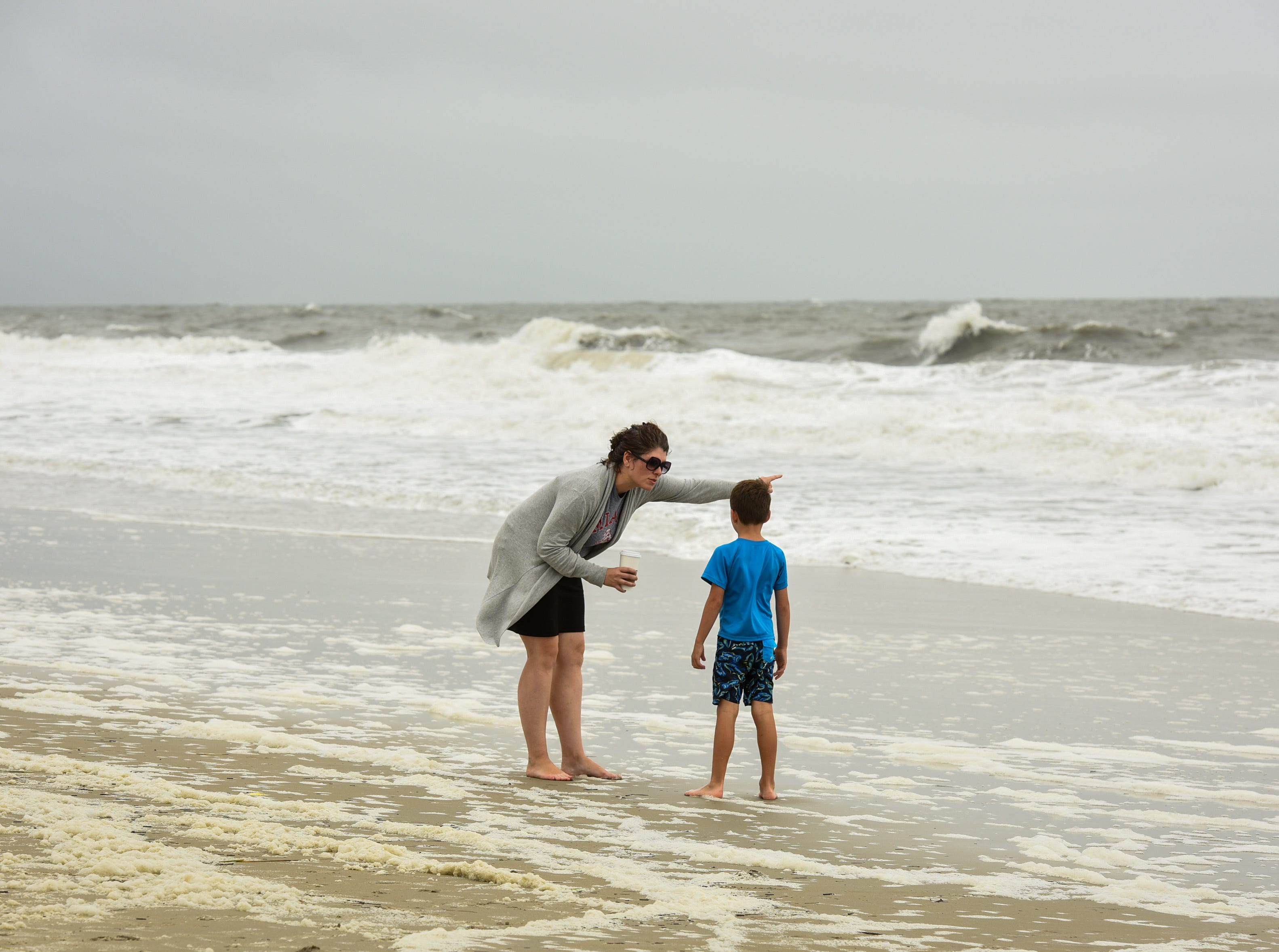 Beach goers enjoy the ocean on a windy day in Bethany Beach, Monday Sept. 10.
