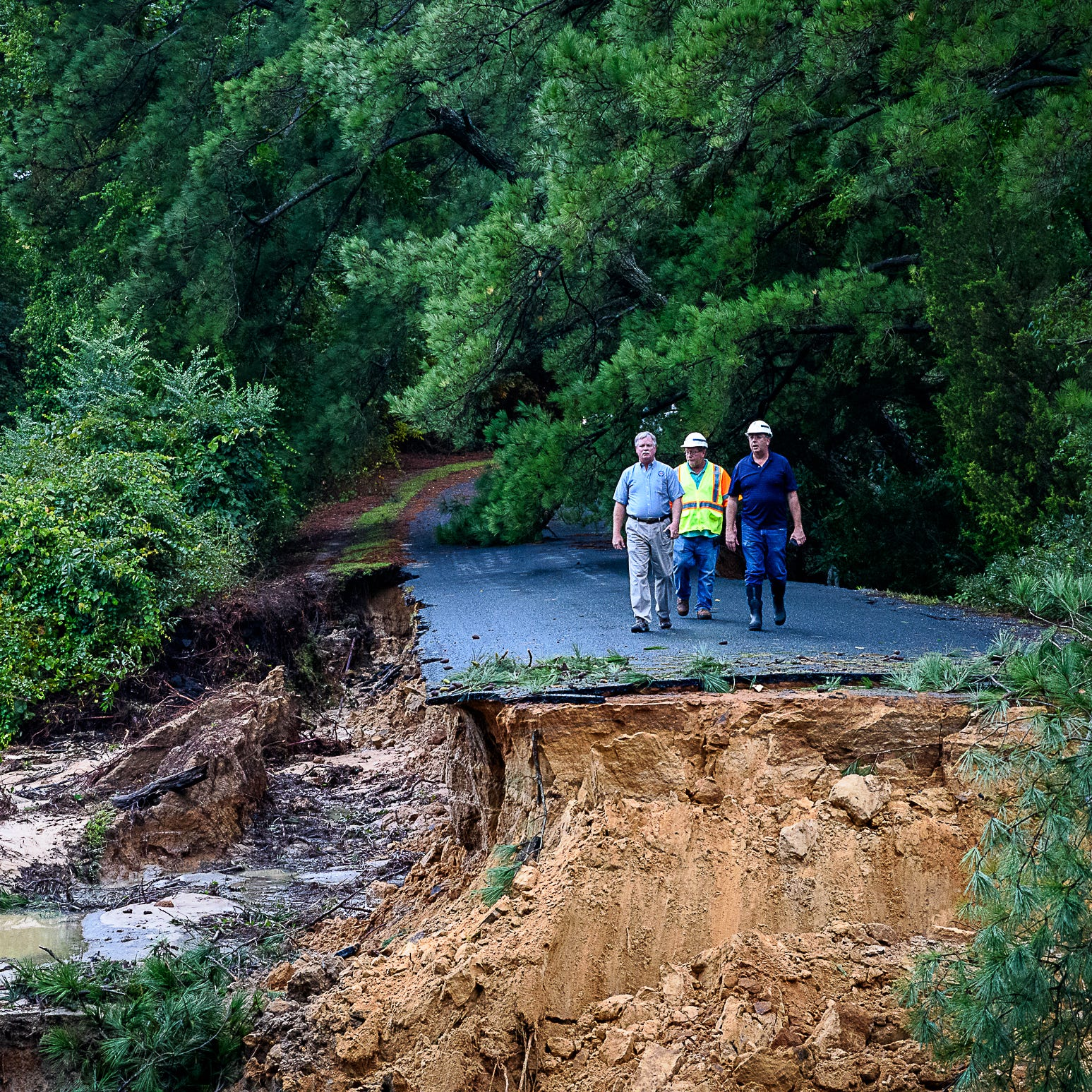 Rains wash out road on Virginia's Eastern Shore