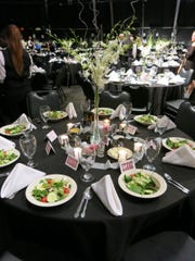 Dinner tables at Symphony Gala