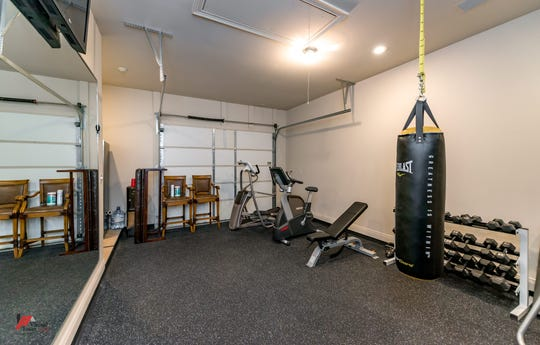 A personal gym within the home is ready for all of your workout needs.