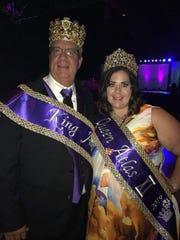 Krewe Atlas King John Favrot and Queen Emily Favrot at Royalty Coronation.