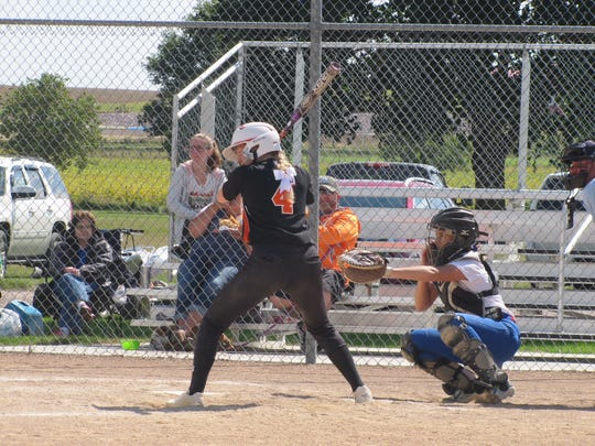 Hannah Heiberger bats for Dell Rapids on Sunday, Sept. 9.