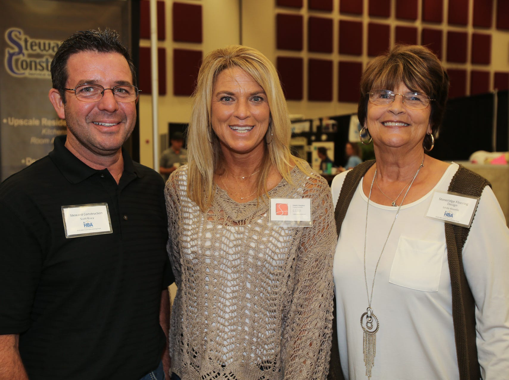 Scott Bracy, Natalie Vaughan, and Linda Revelle
