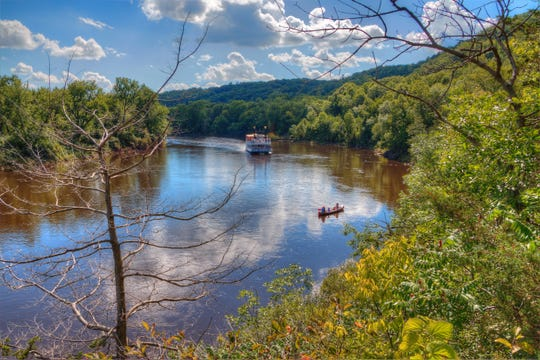Interstate State Park is located on the St. Croix River by Taylor Falls, Minnesota
