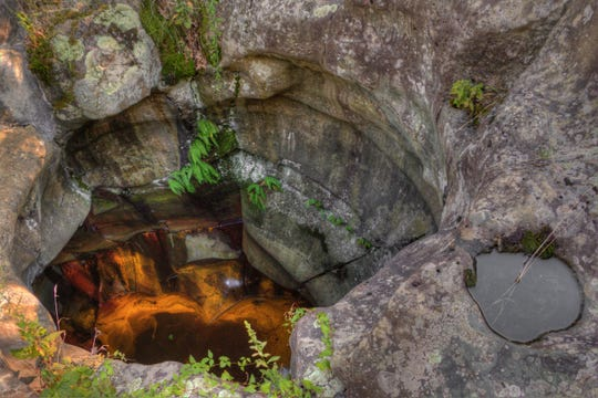Check out huge glacial potholes at Interstate State Park, which has a large concentration of these geological marvels.