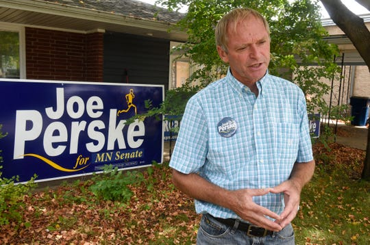 State senate candidate Joe Perske outlines his philosophy on state government during an interview Monday, Sept. 10, in St. Joseph.