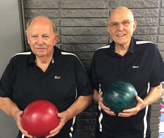 Bill Given III and Max Stayrook, first place finishers for their respective age groups at the 2018 Utah Senior Open Championship tournament in Salt Lake City.