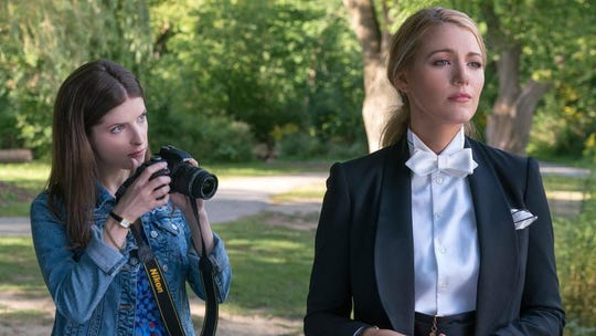 "Anna Kendrick, left, and Blake Lively star in ""A Simple Favor,"" opening Friday."