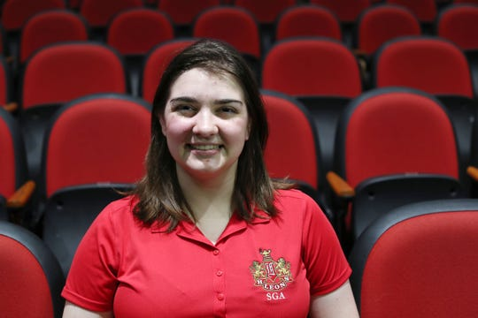 Ashley Campbell is the new student representative for the Leon County School Board. She poses for the photograph on September 10, 2018 in the Leon High School auditorium.
