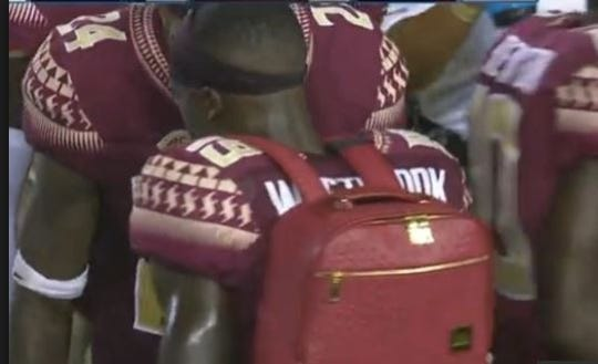 A screenshot of FSU's turnover backpack.