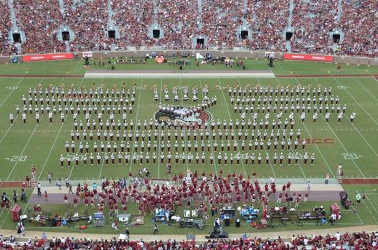 The FSU Marching Chiefs at Doak Campbell Stadium.