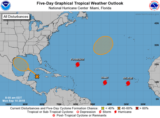 Atlantic basin 8 a.m. Sept. 10, 2018