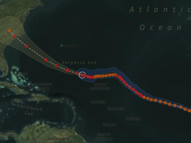 Hurricane Florence's path.