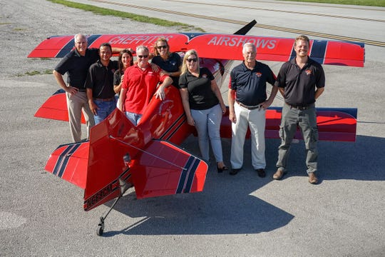 Clemens Kuhlig, also known as Chef Pitts from Hobe Sound, fourth from left, is pictured with the Audi Stuart Air Show board members Mike Anthony, Dewey Vinaya, Susan Cunnane, Desiree Bonnie, Amy Bottegal, Nick Blount and Doug Davis.