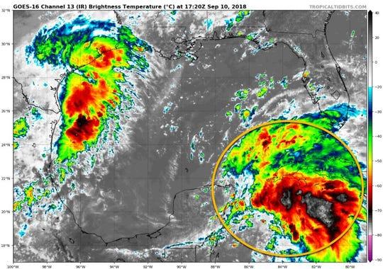 Tropical wave 2 p.m. Sept. 10, 2018