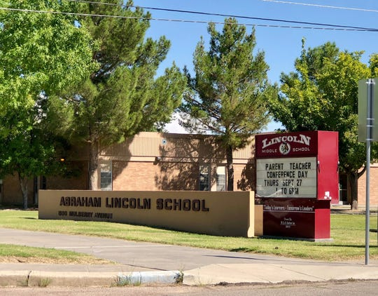 Lincoln Middle School at 500 Mulberry Ave. in El Paso's Upper Valley.