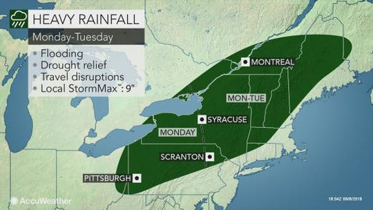 Rain is expected to drench the northeast the next two days.