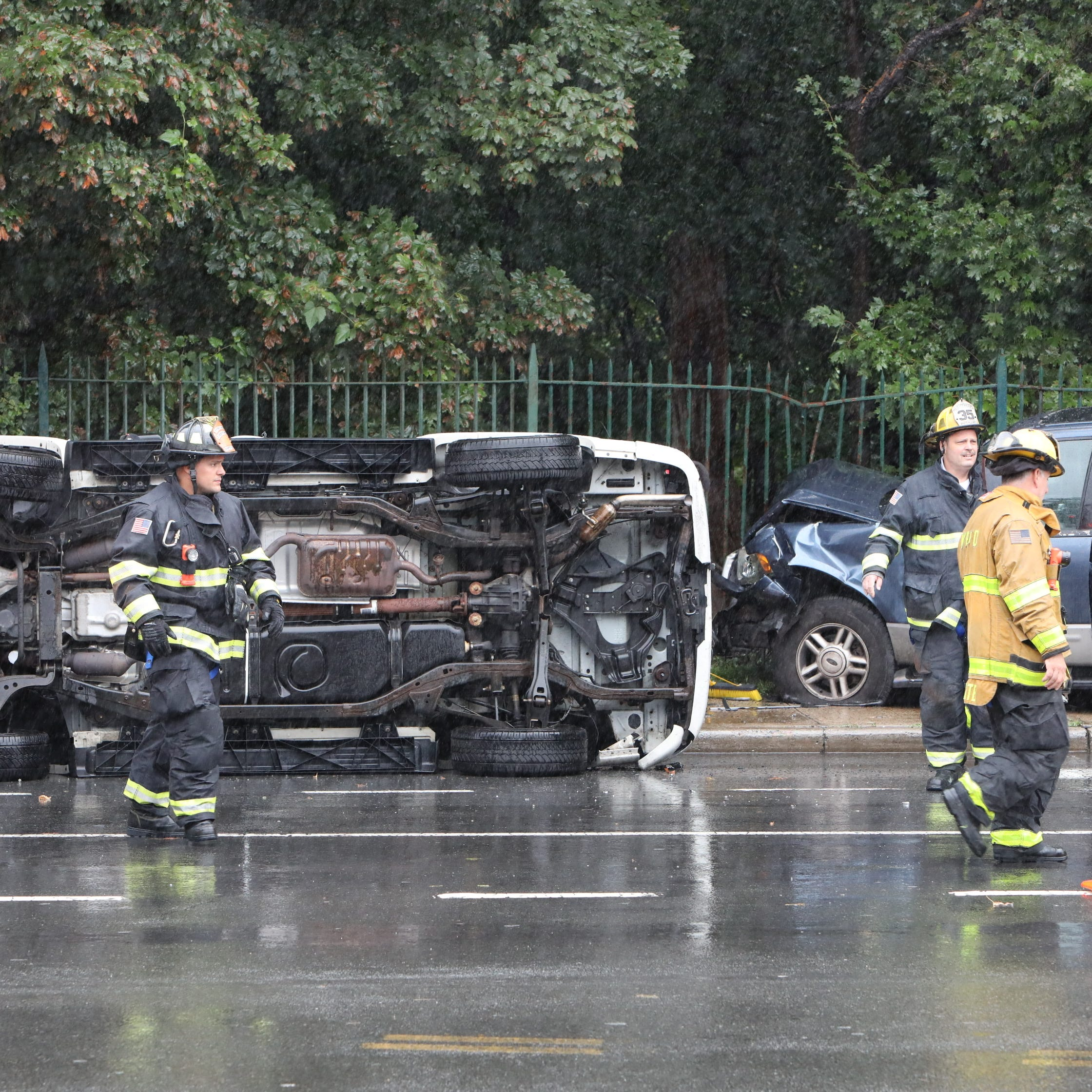 One injured when two cars crash on Mamaroneck Avenue in White Plains