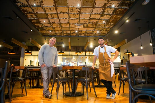 Owners Scott Stein (left) and Chef Antimo DiMeo on Thursday reopened Bardea Food & Drink in downtown Wilmington.