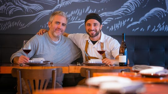 Scott Stein (left) and Chef Antimo DiMeo, owners of Bardea Food & Drink, an Italian restaurant on N. Market Street in downtown Wilmington.