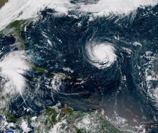 Satellite image of Hurricane Florence Monday morning