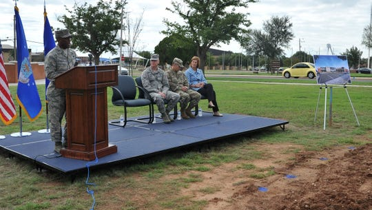 Commander, 82nd Training Wing, Sheppard Air Force Base General Ronald E. Jolly, Sr. spoke before a groundbreaking ceremony for the new Medical Treatment Facility that will be completed in 2020.