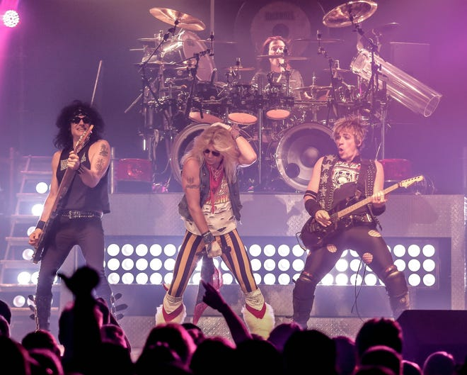 Arena rock is coming to Wichita Falls, when Hairball performs at 7:30 p.m. tonight at Memorial auditorium. Doors open at 6:30 p.m. The group will perform everyone from Kiss to Motley True with its three singers dressed to a T, and lots of special effects.