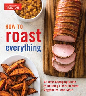 This image provided by America's Test Kitchen in August 2018 shows the cover for the cookbook XXX It includes a recipe for pan-roasted chicken breasts with shallot-thyme sauce. (America's Test Kitchen via AP)