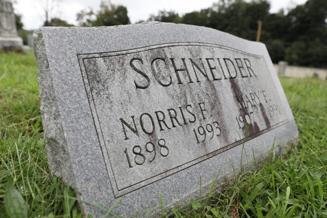 Preeminent Zanesville historian Norris Schneider was laid to rest in Greenwood Cemetary after his passing in 1993.