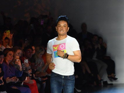US/Nepalese fashion designer Prabal Gurung walks the runway at the Prabal Gurung Spring/Summer 2019 show during New York Fashion Week at Spring Studios on September 9, 2018 in Brooklyn, New York. (Photo by Angela Weiss / AFP)ANGELA WEISS/AFP/Getty Images ORG XMIT: New York ORIG FILE ID: AFP_18Z45T